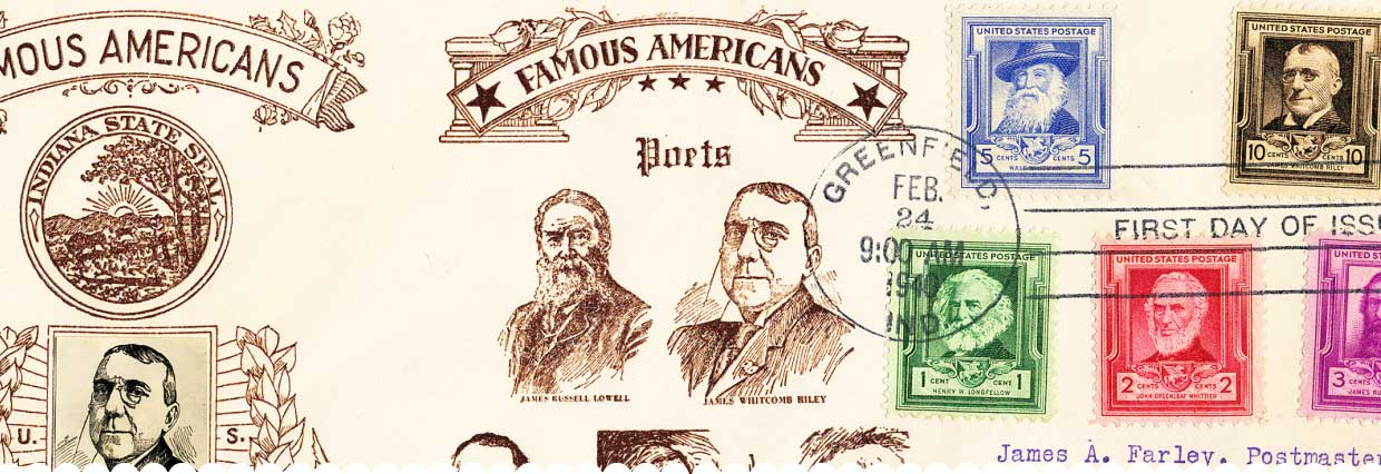 Famous Americans stamp - Poets