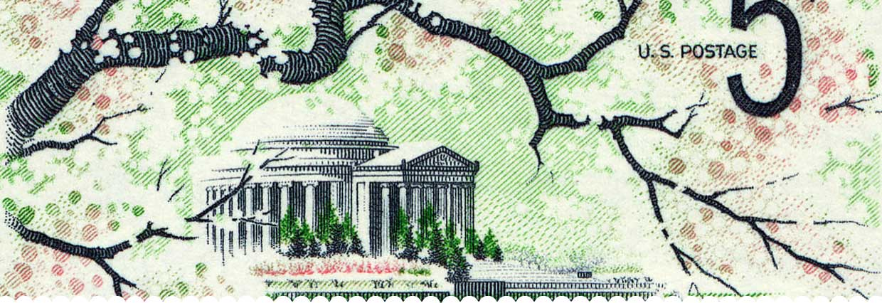 Jefferson Memorial Stamp 5c