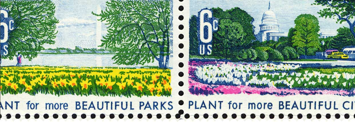 Beautiful Parks stamp 6c - Plant for more BEAUTIFUL PARKS